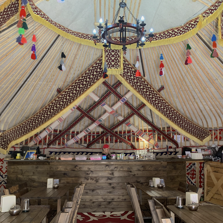 Yurt interior in Kazakhstan