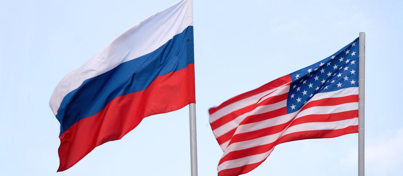 Russian and U.S. flags