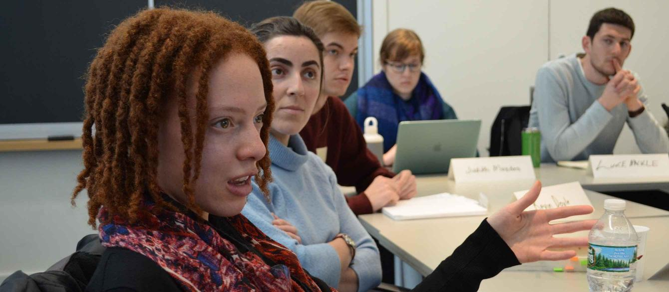 Students in class discussion