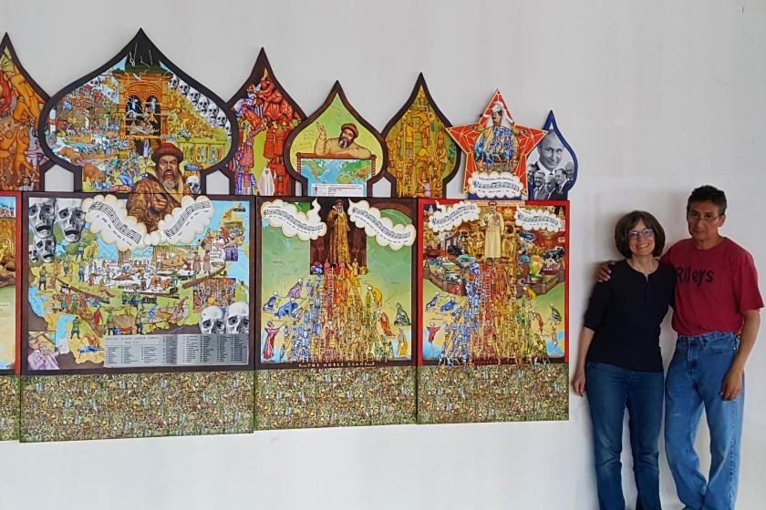 large-scale triptych