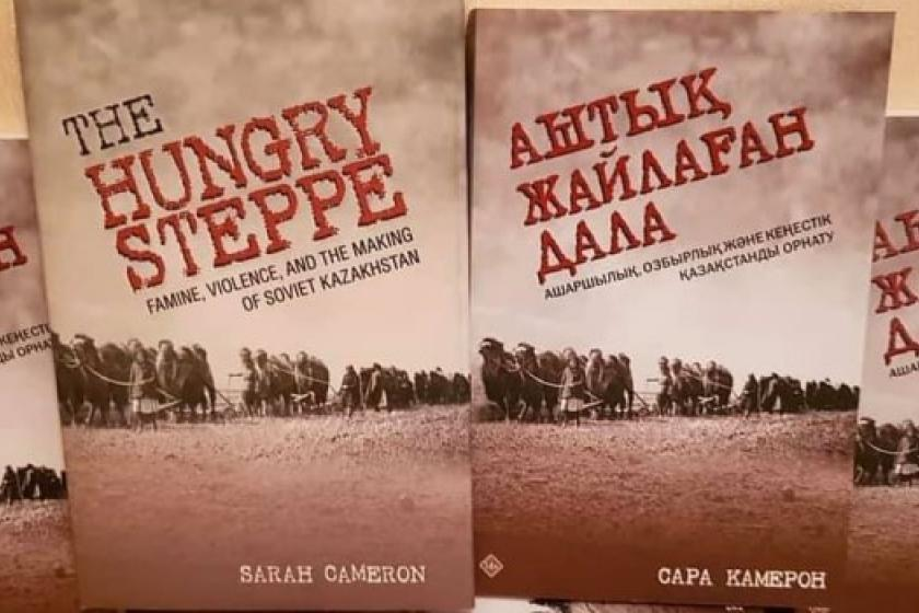 Book cover of The Hungry Steppe in English and Russian