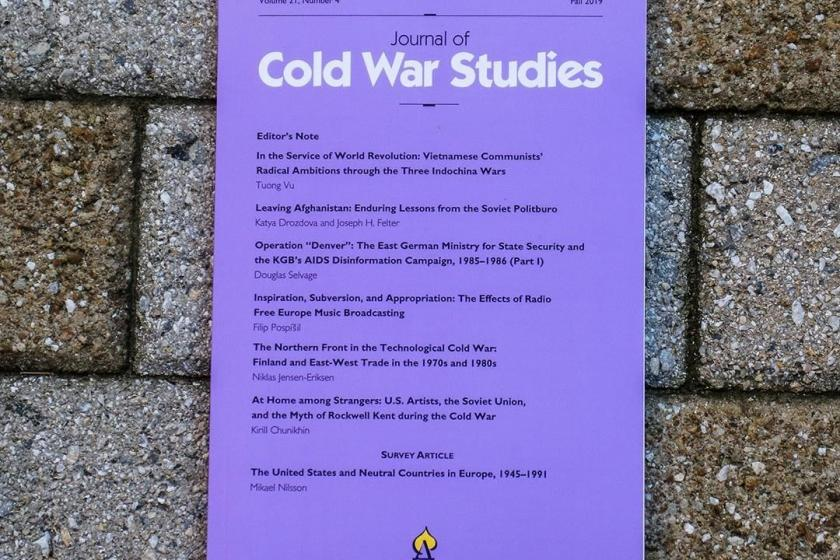 Copy of Journal of Cold War Studies against a brick background