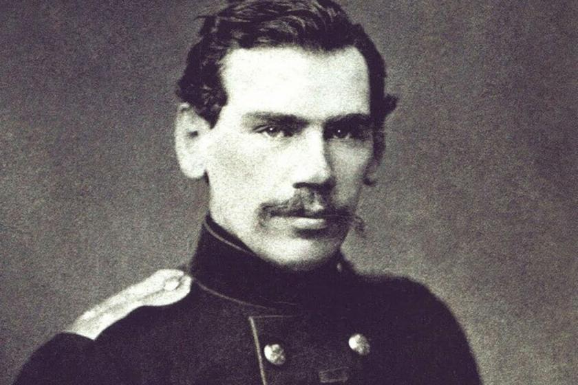 Young Lev Tolstoy in military uniform